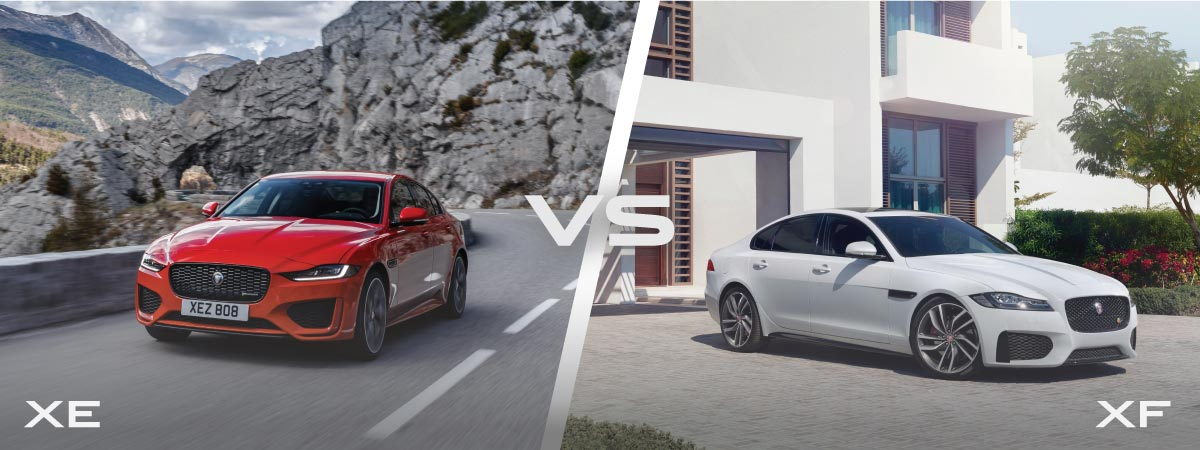Jaguar XE vs XF Design