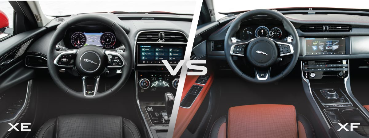 Jaguar XE vs XF Tech